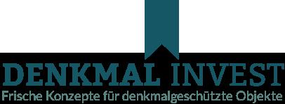 Denkmal-Invest, frische Konzept für denkmalgeschützte Objekte und Immobilien - Logo
